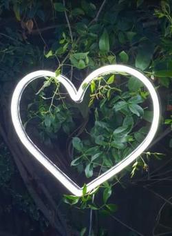 Neon Love Heart Sign
