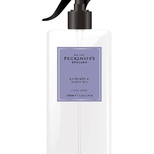 Pecksniffs Classic 1Litre Linen Spray Lavender & White Tea