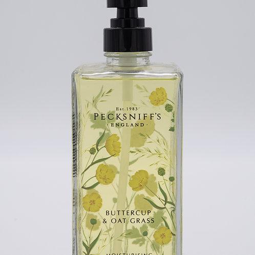 Pecksniffs Prestige Wildflowers 500ml Glass Hand Wash Buttercup & Oat Grass