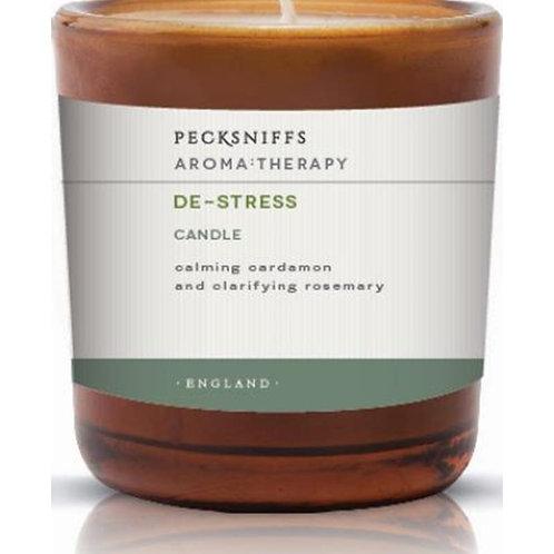 Pecksniffs Aromatherapy Amber 1W Candle De-Stress