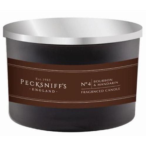 Pecksniffs Mandle Black 3W Candle Bourbon & Mandarin