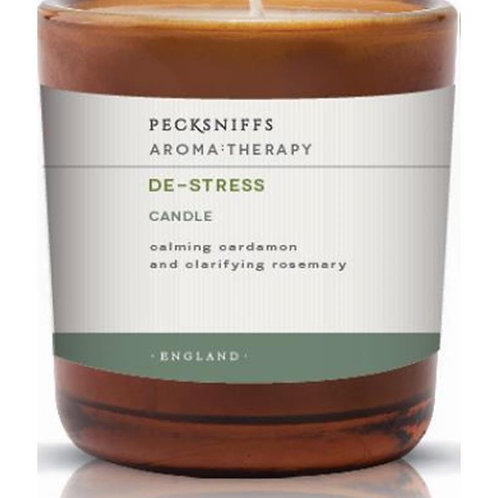 Pecksniffs Aromatherapy Amber Mini 1W Candle De-Stress