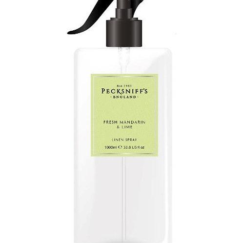 Pecksniffs Classic 1Litre Linen Spray Fresh Mandarin & Lime