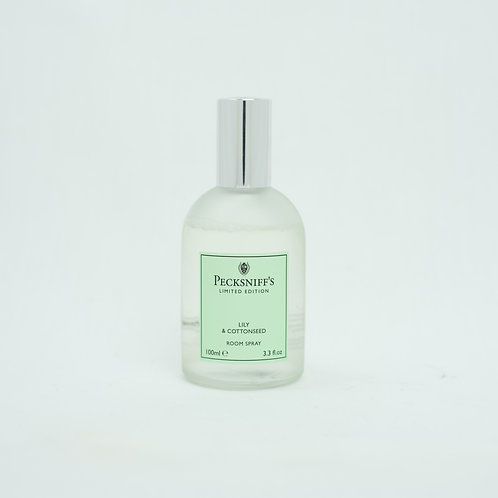 Pecksniffs Spring/Summer 100ml Room Spray Lily & Cottonseed