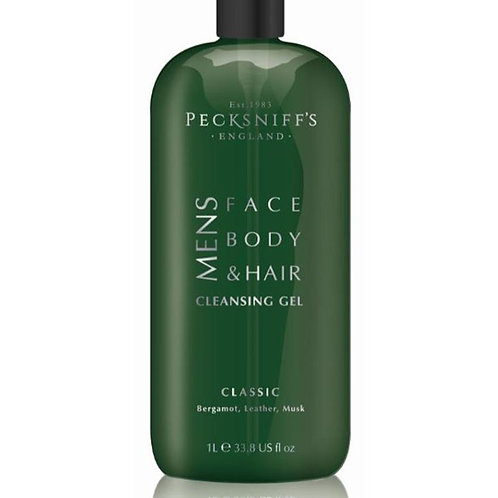 Pecksniffs Mens 1L 3-In-1 Cleansing Gel Classic