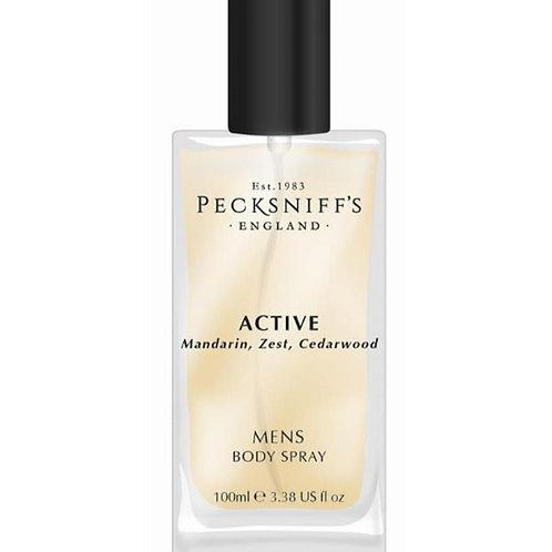 Pecksniffs Mens 100ml Body Spray Active