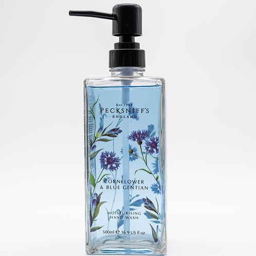 Pecksniffs Prestige Wildflowers 500ml Glass Hand Wash Cornflower & Blue Gentian