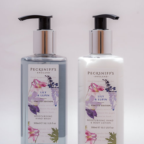 Pecksniffs Vintage Posies 300ml Caddy Lily & Lupin