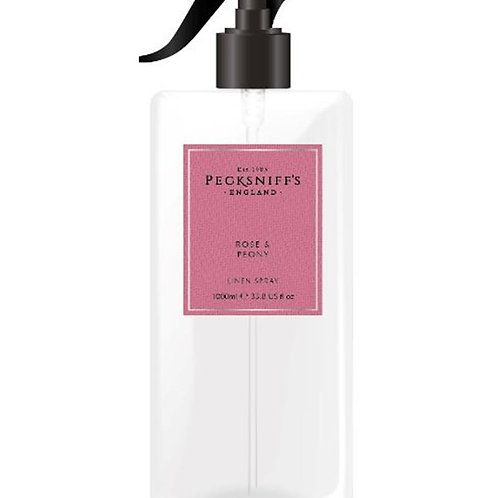 Pecksniffs Classic 1Litre Linen Spray Rose & Peony