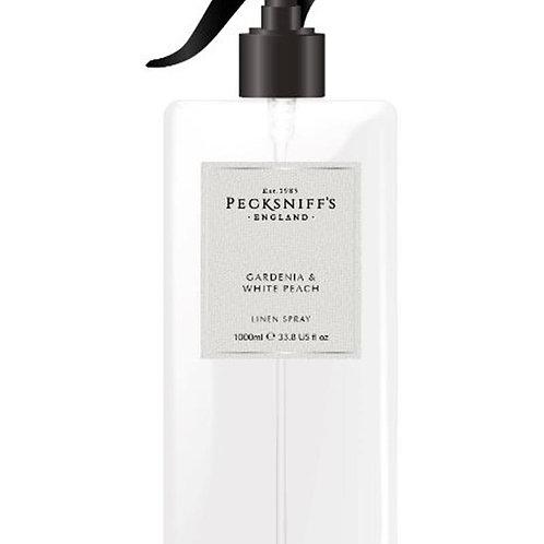 Pecksniffs Classic 1Litre Linen Spray Gardenia & White Peach