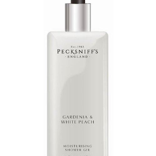 Pecksniffs Classic 1L Square Shower Gel Gardenia & White Peach