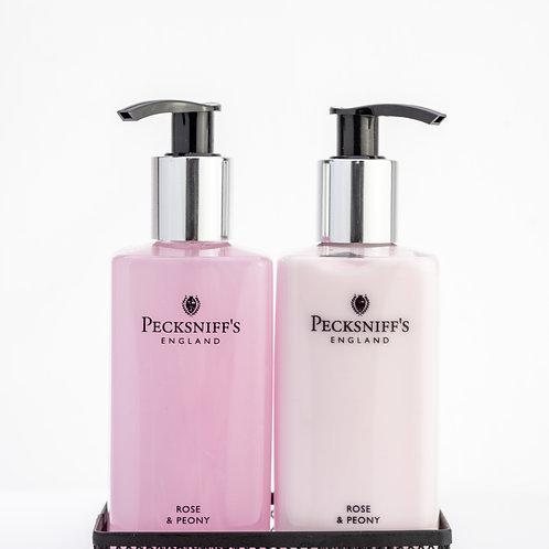 Pecksniffs Classic 300ml Caddy Rose & Peony