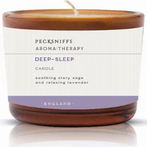 Pecksniffs Aromatherapy Amber Tall 3W Candle Deep-Sleep