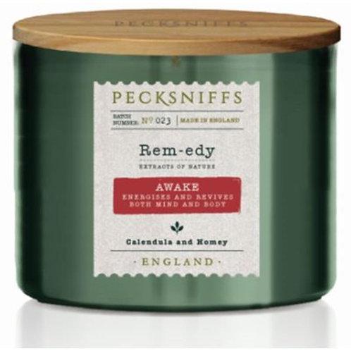 Pecksniffs Remedy Green 1W Candle Awake