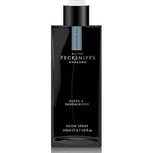 Pecksniffs Prestige Mandle 200ml Black Square Rooms Spray Suede & Sandalwood