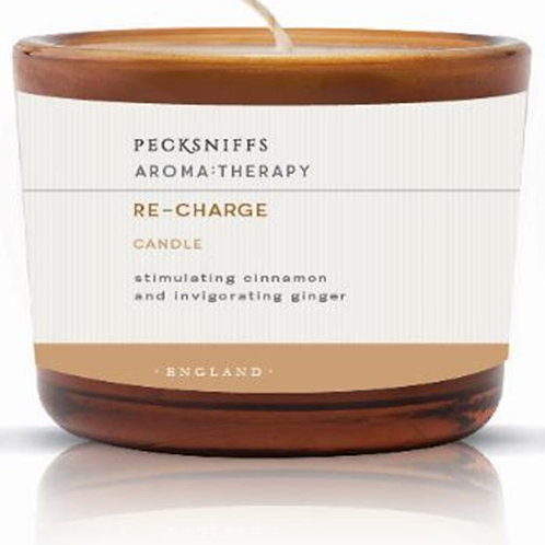 Pecksniffs Aromatherapy Amber Tall 3W Candle Re-Charge