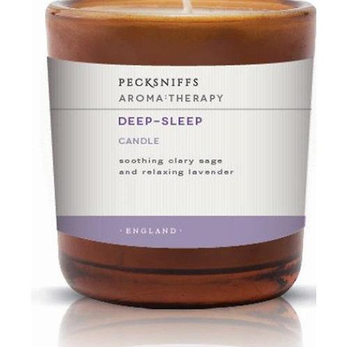 Pecksniffs Aromatherapy Amber 1W Candle Deep-Sleep