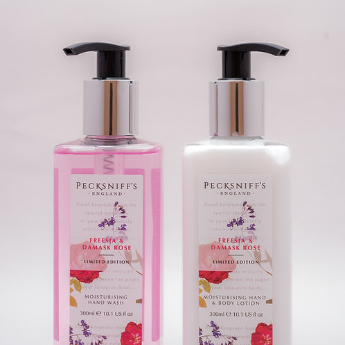 Pecksniffs Vintage Posies 300ml Caddy Freesia & Damask Rose