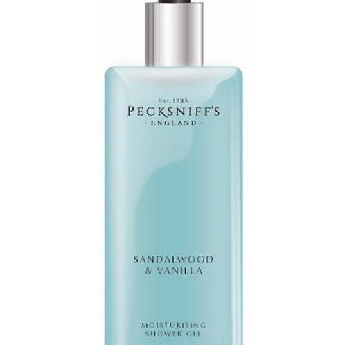 Pecksniffs Classic 1L Square Shower Gel Sandalwood & Vanilla
