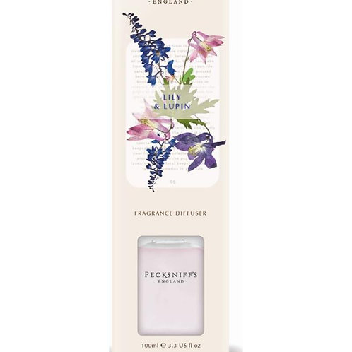 Pecksniffs Vintage Posies 100ml Diffuser Lily & Lupin