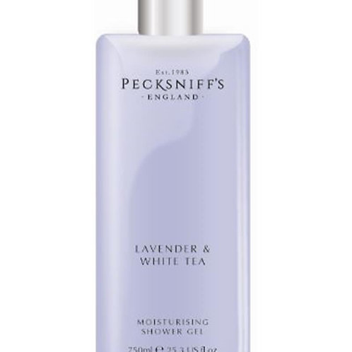 Pecksniffs Classic 750ml Shower Gel Lavender & White Tea