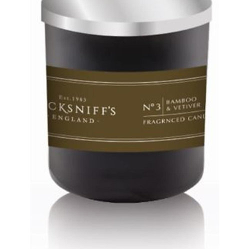 Pecksniffs Mandle BLACK 1W Candle Bamboo & Vetiver
