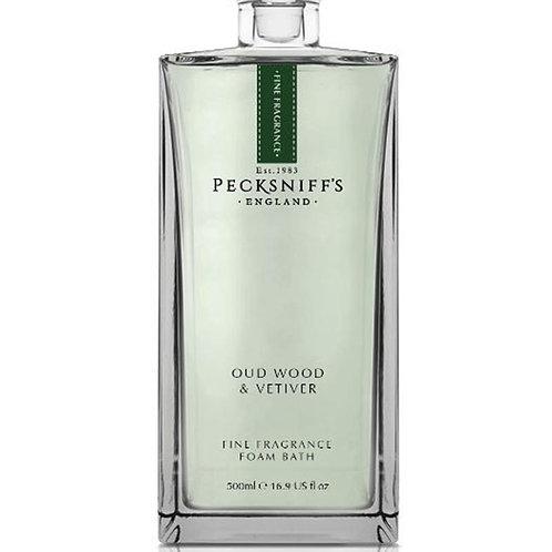 Pecksniffs Prestige 500ml Bath Soak Decanter Oud Wood & Vetiver
