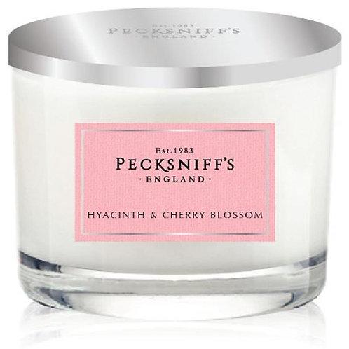 Pecksniffs Spring/Summer 3W Candle Hyacinth & Cherry Blossom