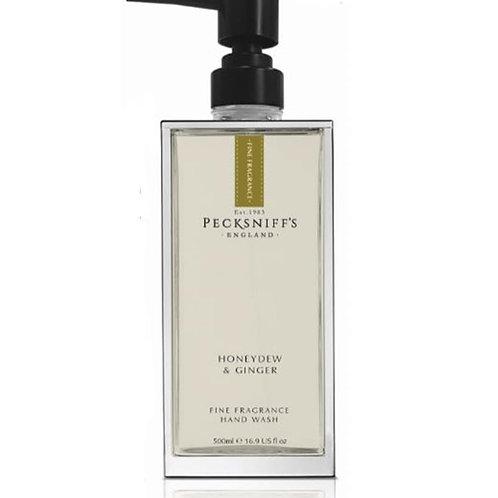 Pecksniffs Prestige 500ml Glass Hand Wash Honeydew & Ginger