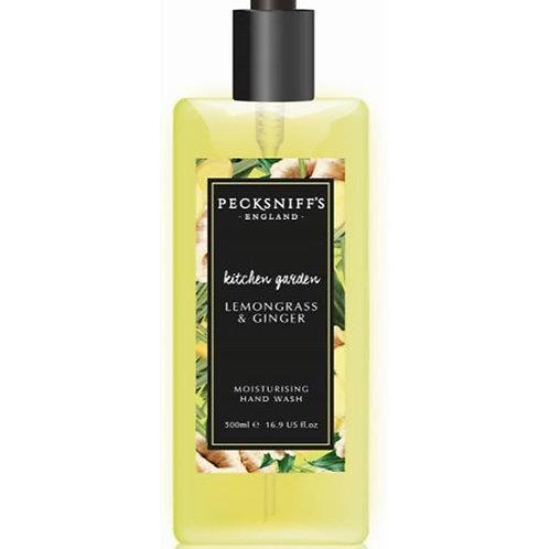 Pecksniffs Kitchen Garden 500ml Hand Wash Lemongrass & Ginger
