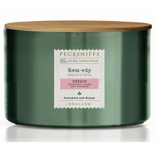 Pecksniffs Remedy Green Tall 3W Candle Repair
