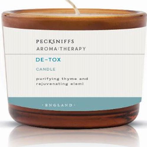Pecksniffs Aromatherapy Amber Tall 3W Candle De-Tox