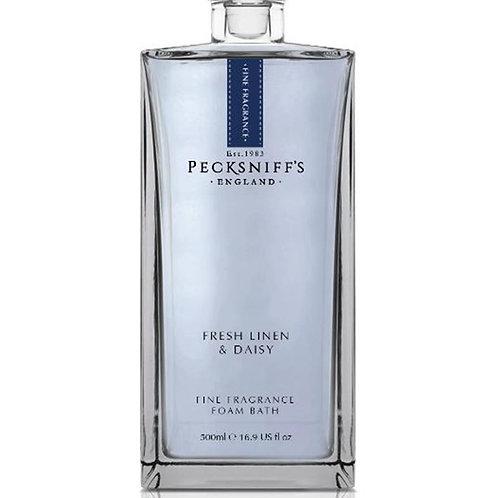 Pecksniffs Prestige 500ml Bath Soak Decanter Fresh Linen & Daisy
