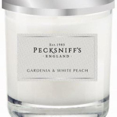 Pecksniffs Classic 1W Candle Gardenia & White Peach