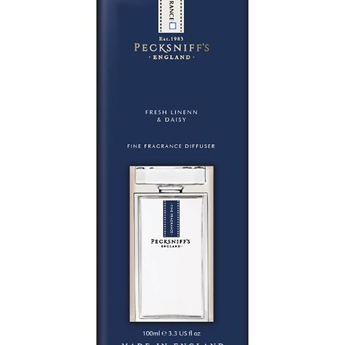 Pecksniffs Prestige 100ml Square Diffuser Fresh Linen & Daisy