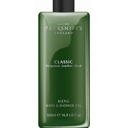 Pecksniffs Mens 500ml Bath & Shower Gel Classic