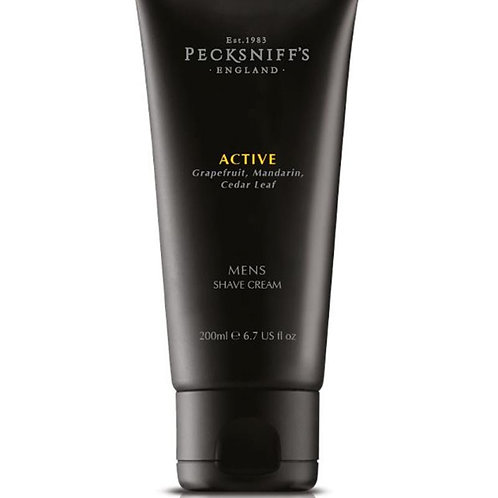 Pecksniffs Mens 200ml Shave Cream Active