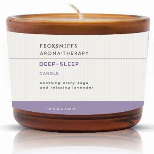 Pecksniffs Aromatherapy Amber 3W Candle Deep-Sleep