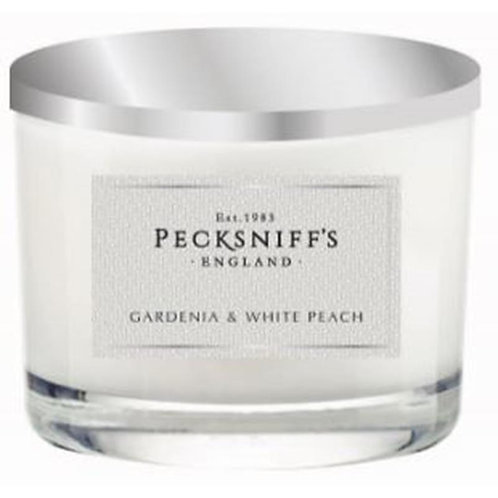 Pecksniffs Classic 3W Candle Gardenia & White Peach