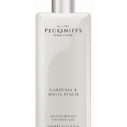 Pecksniffs Classic 750ml Shower Gel Gardenia & White Peach
