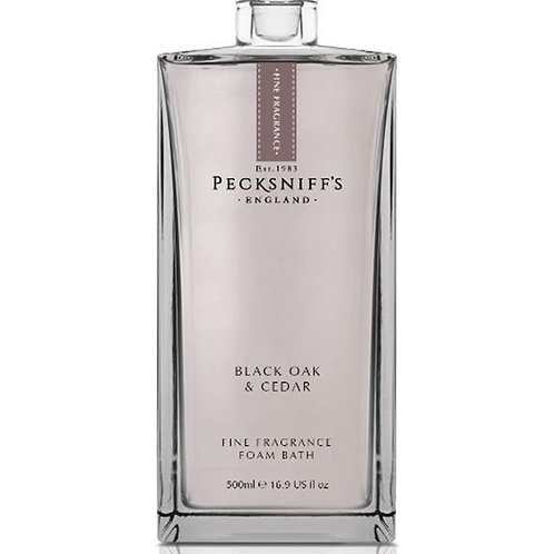 Pecksniffs Prestige 500ml Bath Soak Decanter Black Oak & Cedar