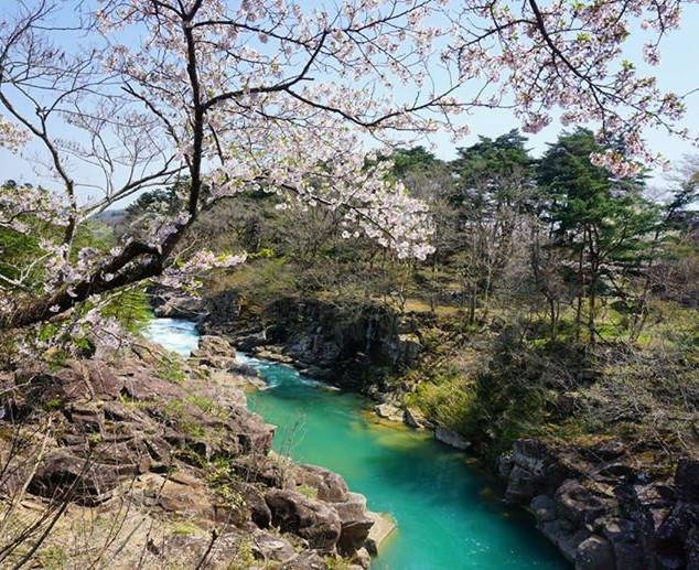 Genbikei Gorge in spring