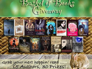 BASKET OF BOOKS GIVEAWAY!