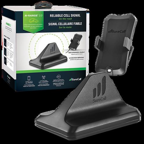 SureCall N-Range 2.0 Cradle Signal Booster for Cars & Trucks - SC-NRange2