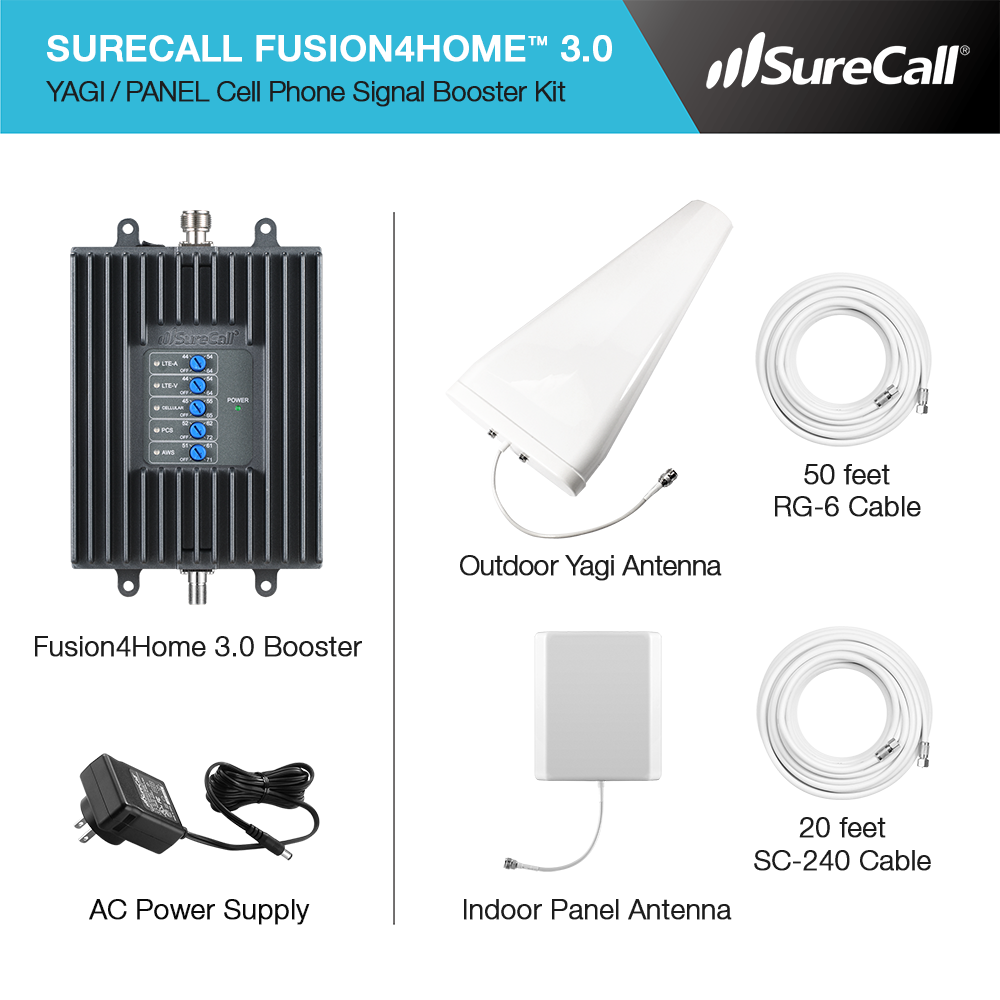 SureCall Fusion4Home 3 0 In-Building Signal Booster - SC-PolyH3-72-YP-C |  SureCall Boosters