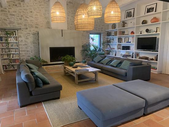 salon lumineux design moderne