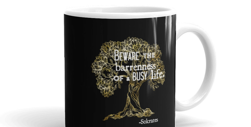 Olive Tree + Sokrates Quote Mug