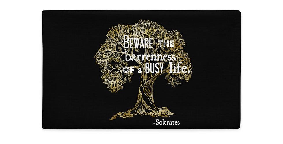 Olive Tree Sokrates Quote Premium Pillow Case