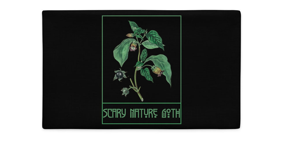 Scary Nature Goth Belladonna Premium Pillow Case