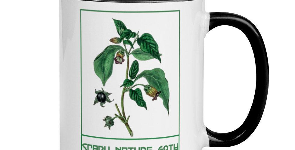 Scary Nature Goth Belladonna Mug with Color Inside